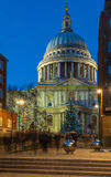 St Paul's cathedral with Christmas tree, London, UK Royalty Free Stock Photo