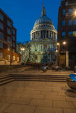 St Paul's cathedral with Christmas tree, London, UK Royalty Free Stock Images