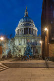 St Paul's cathedral with Christmas tree, London, UK Stock Image
