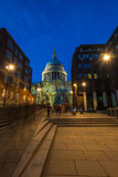 St Paul's cathedral with Christmas tree, London, UK Stock Photo