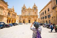 St. Paul's Cathedral in the city of Mdina Stock Image