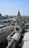 St Paul's Cathedral Clock Tower, London Stock Image