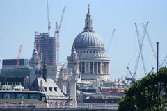 St Paul's cathedral and cranes Stock Photo