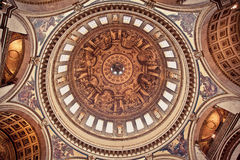 St Paul's Cathedral. The dome of St. Paul's Cathedral in London (interior Stock Image