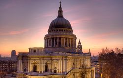 St Paul's Cathedral at dusk Stock Photography