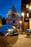 St Paul's cathedral at dusk stock photo