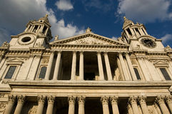St Paul's Cathedral Facade Stock Image