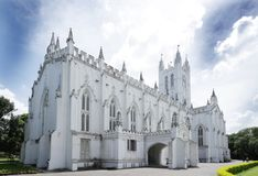 St. Paul's Cathedral Kolkata, a view from North east Stock Image