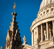 St Paul's Cathedral, London. Details of some towers of St Paul's Cathedral, London Stock Photography