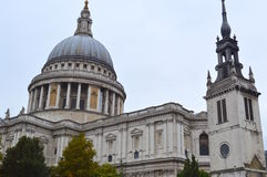 St. Paul`s Cathedral in London Stock Image