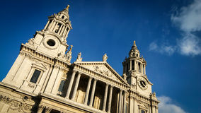 St. Paul's Cathedral, London. Angled view of the façade of St. Paul's Cathedral, London Stock Photos