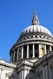 St Paul`s Cathedral. In London - detail on Cupola from this majestic building Royalty Free Stock Photo