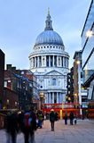 St. Paul's Cathedral London at dusk Stock Image