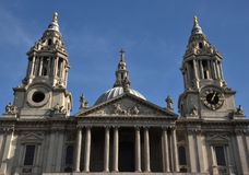 St Paul's Cathedral, London, England. St. Paul's Cathedral, London, England, October 6, 2017 Royalty Free Stock Image