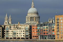 St Pauls Cathedral, London. St Pauls Cathedral on the horizon in London Stock Photography