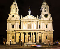 St. Paul's Cathedral London at night Stock Image
