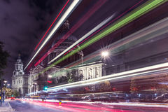 St Paul`s Cathedral in London at night Royalty Free Stock Photography