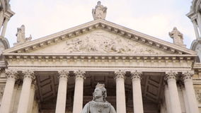 St Paul's cathedral in London stock footage