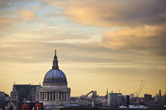 St Paul's Cathedral in London at sunset Royalty Free Stock Photography