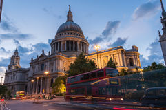 St Paul's cathedral in London at twilight Royalty Free Stock Photos