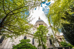 St Paul`s Cathedral, London, UK. St Paul`s Cathedral, London, is an Anglican cathedral, the seat of the Bishop of London and the mother church of the Diocese of Royalty Free Stock Photos