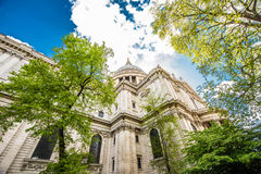 St Paul`s Cathedral, London, UK. St Paul`s Cathedral, London, is an Anglican cathedral, the seat of the Bishop of London and the mother church of the Diocese of Royalty Free Stock Images