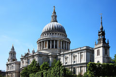 St Paul's Cathedral. St Paul's Cathedral in London, UK, built after The Great Fire Of London of 1666, is Christopher Wren's masterpiece and one of the Royalty Free Stock Photo