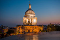 St Paul's Cathedral in London. St Paul's Cathedral, London, UK, photographed at Dusk Royalty Free Stock Image