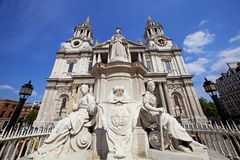 St Paul's Cathedral, London UK. St Paul's Cathedral ultra wide angle view Royalty Free Stock Photography