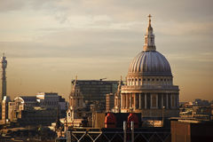 St Paul's Cathedral London during Winter sunset Stock Photo