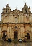 St Paul's cathedral. In Mdina, Malta Royalty Free Stock Photos