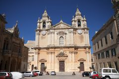 St. Paul's Cathedral Mdina. Malta stock images