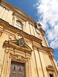 St. Paul's Cathedral in Mdina, Malta, Europe Stock Images