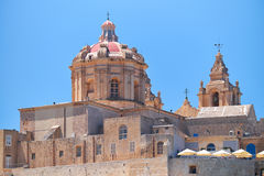 St. Paul's Cathedral in Mdina, Malta. The view of St. Paul's Cathedral in Mdina, Malta Stock Photography