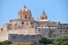 St. Paul`s Cathedral in Mdina, Malta. The view of St. Paul`s Cathedral in Mdina, Malta Stock Photography
