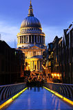 St. Paul's Cathedral  from Millennium Bridge Royalty Free Stock Image