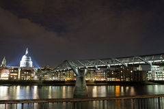 St Paul's Cathedral and Millennium Bridge Royalty Free Stock Images