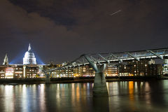 St Paul's Cathedral and Millennium Bridge Royalty Free Stock Photos