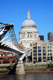 St Paul\'s Cathedral and the Millennium Bridge Stock Photography