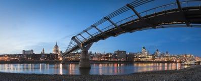 St Paul's Cathedral & Millennium Bridge, London Stock Images
