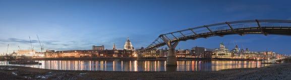 St Paul's Cathedral & Millennium Bridge, London Stock Photography