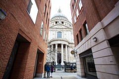 St Paul`s Cathedral and modern buildings Stock Photography