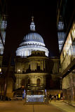 St. Paul's Cathedral at night Stock Image