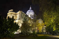 St Paul's Cathedral. By night Royalty Free Stock Photo