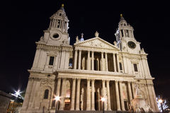St. Paul's cathedral at night Royalty Free Stock Image