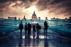 St Paul's Cathedral in the rain Royalty Free Stock Image