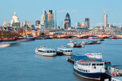 St Paul's Cathedral and River Thames Stock Image