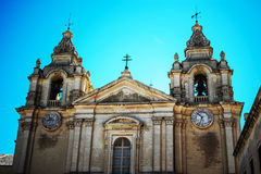 St. Paul`s Cathedral. Is a Roman Catholic cathedral in Mdina, Malta, dedicated to St. Paul the Apostle Royalty Free Stock Photo