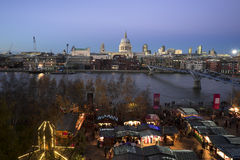 St Paul's Cathedral, seen from Tate Modern Stock Image