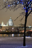 St. Paul's Cathedral in the snow Royalty Free Stock Images